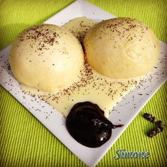 Dumplings, Nutella, Panna Cotta, Clean Eating, Muffin, Dessert Recipes, Food And Drink, Ice Cream, Sweets