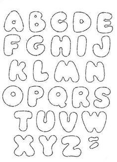 moldes de letras em eva alfabeto