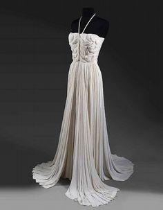 Evening dress, Madame Grès, 1945-1955