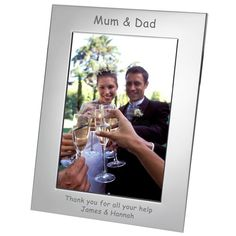 Engraved Matron of Honour Silver Plated Photo Frame - from Personalised Gifts Shop - ONLY Engraved Wedding Gifts, Wedding Gifts For Bride And Groom, Engraved Gifts, Father Of The Bride, Bride Gifts, On Your Wedding Day, Personalised Gift Shop, Personalized Photo Frames, Matron Of Honour