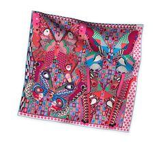 2014 F/W | Les Ailes de la Soie | Silk twill scarf, hand-rolled (90 cm x 90 cm) | Ref. H002845S 15 | CA$420.00