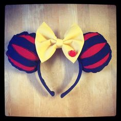 Snow White inspired mouse ears  by LadybowInc on Etsy
