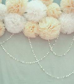Tissue pom wedding decor ideas | Details + Decor | 100 Layer Cake