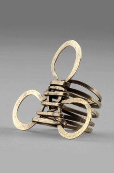 // Ring   Alexander Calder. Brass wire. ca. 1940  