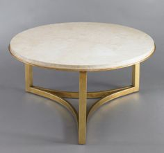 Dwell Studio Milo Coffee Cocktail Table Round gold
