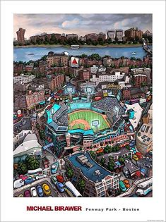 """Fenway Park - Boston"" Best City in the World Baseball Park, Red Sox Baseball, Baseball Socks, Boston Baseball, Pro Baseball, Boston Strong, In Boston, Boston Red Sox, Boston Bruins"