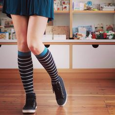 Loving this look! These adorable Vim & Vigr compression socks are great to wear to work running errands or hanging out around the house. #stripes #vimvigr #fashion #fashionista  #fallfashion #mystyle #mylook #ootd #whattowear  #compressionsocks