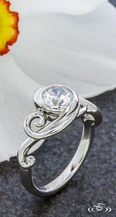 Swirly Wrap Engagement Ring. Green Lake Jewelry 108166