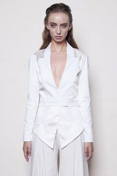 Natural Energy jacket in White and Ivory