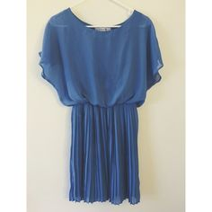 Pleated Chiffon Dress  Faint stain on front. Hardly noticeable. Hardly worn! Forever 21 Dresses