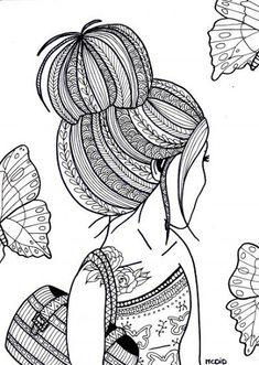 Girl Coloring Sheets free printable coloring pages for teens italien forum info Girl Coloring Sheets. Here is Girl Coloring Sheets for you. Girl Coloring Sheets free printable coloring pages for teens italien forum info. Doodle Art Drawing, Zentangle Drawings, Mandala Drawing, Cool Art Drawings, Art Drawings Sketches, Zentangles, Drawing Ideas, Doodling Art, Cute Doodle Art