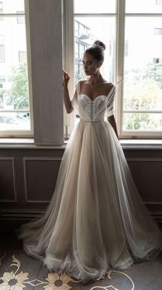 Featured Dress: Elihav Sasson; Sweetheart ballgown wedding dress idea.