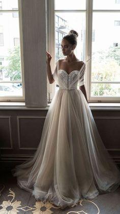 Featured Dress: Elihav Sasson; Sweetheart ballgown wedding dress idea.