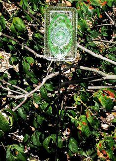 diy glass garden art | Oblong Glass Garden Flower
