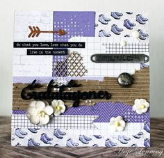 papirdesign-blogg: Lilla bursdagskort med restepapir