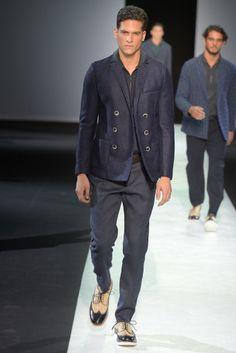 Giorgio Armani Men's RTW Spring 2014 - Slideshow - Runway, Fashion Week, Reviews and Slideshows - WWD.com