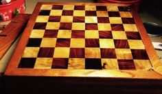 A personal favorite from my Etsy shop https://www.etsy.com/listing/227232141/custom-made-chess-board