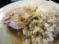 Kurací plátok na rozmaríne s ryžou Grains, Food, Meal, Eten, Meals, Korn