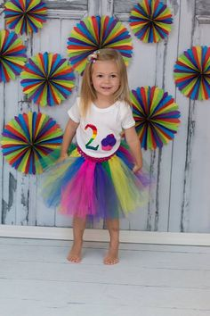 SALE Girls Two Year Birthday Tutu Outfit Cupcake by jwhizcrochet Circus Birthday, Birthday Tutu, Rainbow Birthday, Girl Birthday, Cupcake Shirt, Tutu Outfits, Purple, Pink, Hair Clips
