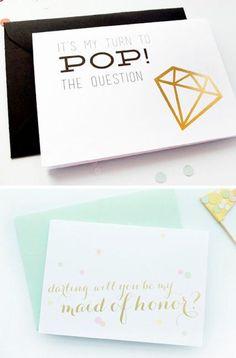 Will you be my bridesmaid? Creative ideas on Secret Wedding Blog