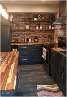 new kitchen cabinets estilo dos mveis prateleiras Black Kitchen Cabinets dos estilo mveis pratele. Home Decor Kitchen, New Kitchen, Home Kitchens, Kitchen Ideas, Country Kitchen, Remodeled Kitchens, Basement Kitchen, Kitchen Taps, Kitchen Fixtures