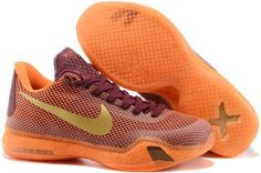4531e23ad02e The cheap Authentic Kobe 10  Silk  Merlot Villain Red Total Orange Metallic  Gold Shoes factory store are awesome pair of shoes but it seems the super  high ...
