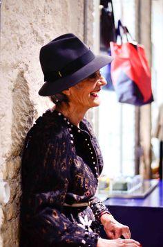 Hat Borsalino. Coat Lanvin