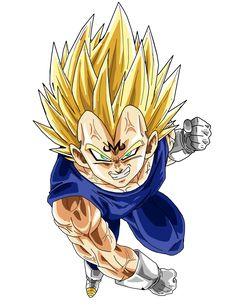 Majin Vegeta - Dragon Ball Z Dragon Ball Gt, Goku Dragon, Manga Dragon, Dragon Ball Z Shirt, Dragonball Goku, Goku E Vegeta, Dragonball Super, Son Goku, Majin