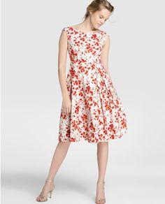 Vestido corto de mujer Yera con estampado floral