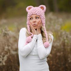 Cute Bear Hat Crochet Pattern via Etsy.