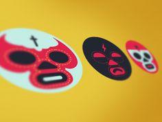 Luchador icons by Adam Brackney