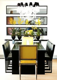 Contemporary Dining Room In White And Yellow Designed By Guilherme Torres.