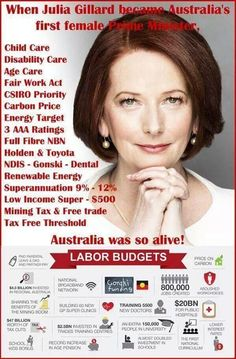 """""""If the Gillard Government policies had been able to continue from 2013 until now Australia would be laughing."""" -- Sadly, so true! :( This was the high point! Fair Work, Social Democracy, Nasty People, The Nut Job, One Step Beyond, Liberal Party, Australian Politics, Tony Abbott, Aged Care"""