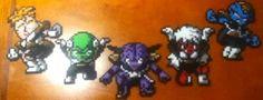 Perler Bead Ginyu Force Set From Dragon Ball Z