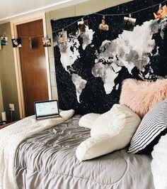 62 Dorm Room Ideas for you – Seite 39 von 62 - Alles über Dekoration Cute Dorm Rooms, College Dorm Rooms, Girls Bedroom, Bedroom Decor, Bedroom Ideas, Teen Bedrooms, Master Bedroom, Master Master, Bedroom Black