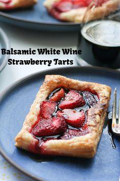 balsamic white wine strawberry tarts