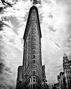 Flat Iron building. NYC photography. Black and White HDR. 8x10 print.. $25.00, via Etsy.
