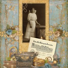 Faith Howard...beautifully soft colors and feminine details. Love the certificate and typewriter.