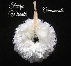 Time for my favorite Christmas craft project! These are fast, fast, fast! Most of you have seen wreath ornaments made by wrapping yarn around the lids (rings) f…