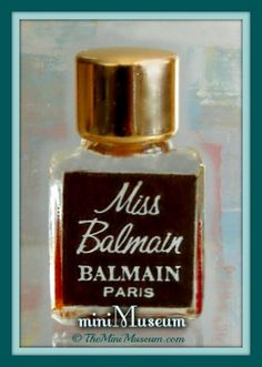 MISS BALMAIN micro mini perfume bottle. Germaine Cellier, perfumer. C1967. | The Mini Museum...telling the history of perfume one miniature perfume bottle at a time.