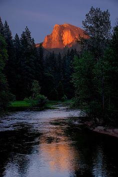 Half Dome from Sentinel Bridge, Yosemite. An all-time favorite vacation spot for my family, this national park is filled with memories from my childhood, including hiking, playing in the snow right next to deer, skiing and much more.