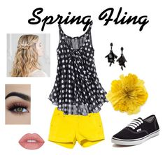 """""""spring fling"""" by peaches200214 ❤ liked on Polyvore featuring Kavu, Vans, Gucci and Oscar de la Renta"""