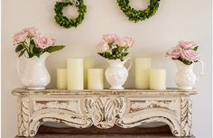 Each corbel wall shelf are a French inspired white wall shelf that are beautiful vintage decor. Use this floating wall shelf to display and show off all your favorite pieces. For more visit, www.decorsteals.com OR www.facebook.com/decorsteals.
