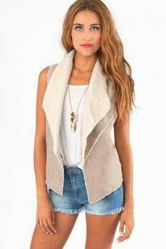 Klarah Faux Fur Vest I love the vest