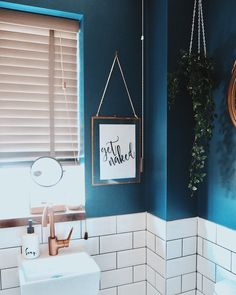 Wall tiles bedroom paint colors 55 New ideas Room Tiles, Wall Tiles, Metro Tiles Bathroom, White Rooms, White Walls, Teal Rooms, Navy Walls, Grey Bathrooms, Small Bathroom