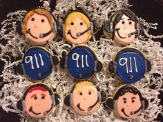 National telecommunicators week is April 8th-13th This listing is for 1 dozen individually wrapped 911 dispatch cookies! We can do the 911 in