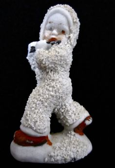 ca. 1930 Bisque Snowbaby with Flute.