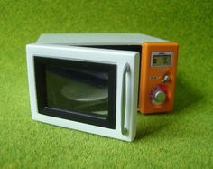Re-ment / Rement / R-M Miniature Toys : Bargin Electrical Goods / White and Orange Microwave by HarapekoDoggyBag, via Flickr