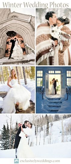Winter Wedding Photos - Winter Wedding Photos - Winter is a great backdrop for wedding photos.