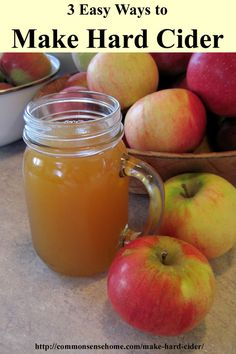 The most basic hard apple cider can be made on your counter top in a matter of days, and is one of the easiest home ferments.  For long term storage, you need a bit more equipment, time and patience, but it's still a fairly straightforward process.  I'll share three ways to make hard cider in this post.